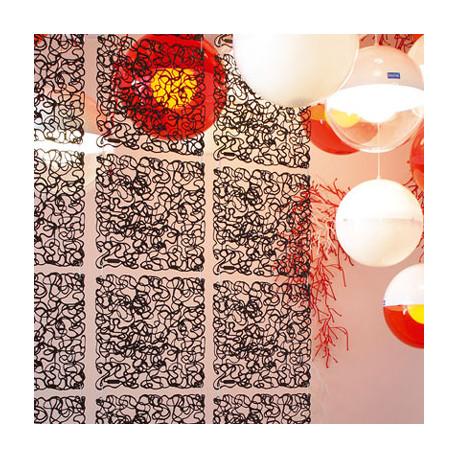20 carrés séparations design Fusion, Koziol noir opaque
