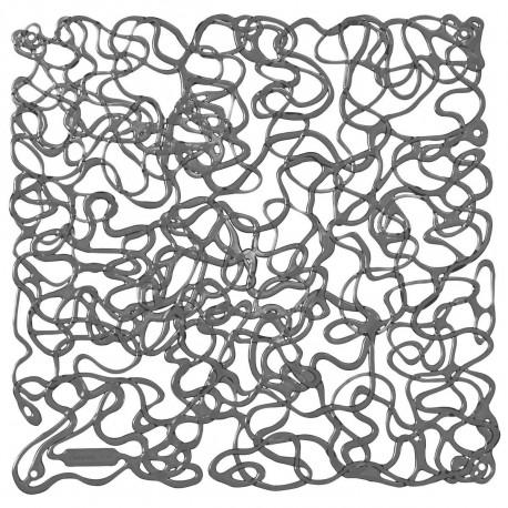 20 carrés séparations design Fusion, Koziol gris anthracite transparent