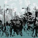 Papier peint design Local scenic toile, Domestic
