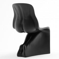 Chaise design Her, Casamania noir mat