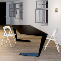 Table futuriste N7 Casamania noir