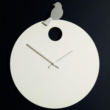 Horloge Free Bird, Diamantini & Domeniconi horloge blanche, oiseau aluminium