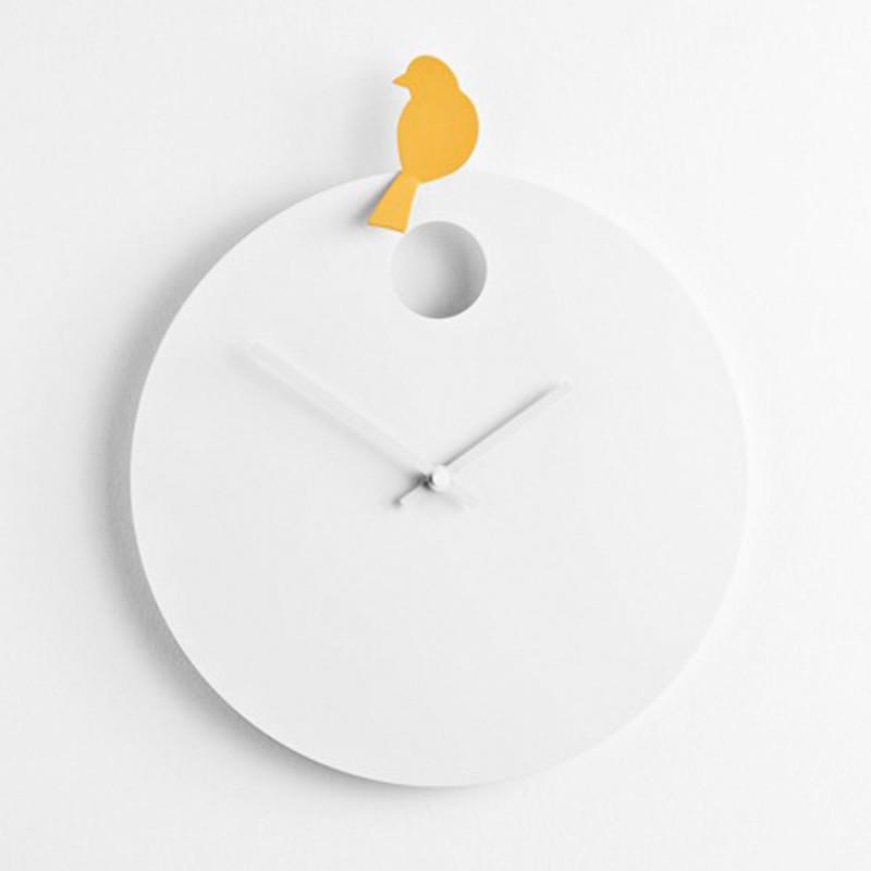 Gallery of horloge free bird diamantini u domeniconi horloge blanche oiseau jaune with pendule for Pendule blanche design