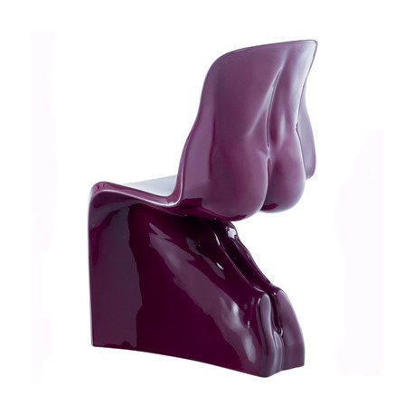Chaise HIM Casamania violet laqué