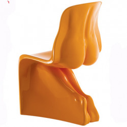 Chaise HIM Casamania orange laqué