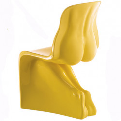 Chaise HIM Casamania jaune laqué