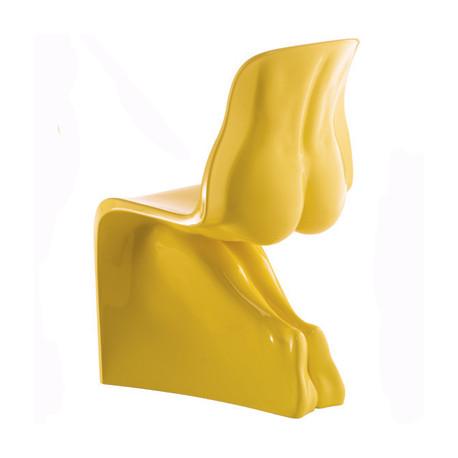 Chaise HER Casamania jaune laqué