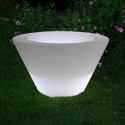 Petit X-pot lumineux, Slide Design blanc Hauteur 33 cm