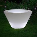 Petit X-pot lumineux, Slide Design blanc Hauteur 50 cm