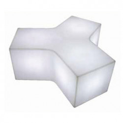 Table basse/Banc lumineux Ypsilon, Slide Design blanc