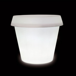 Grand Pot lumineux Big Gio H 143 cm, Slide Design blanc