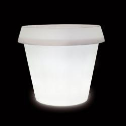 Pot lumineux Gio H 143 à 184 cm, Slide Design blanc Gio Big