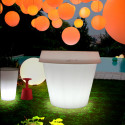 Pot XXL lumineux Gio Monster H 184 cm, Slide Design blanc translucide