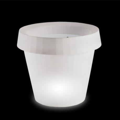 Pot lumineux Gio Tondo, Slide Design blanc H 92 cm