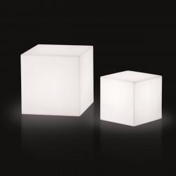 Cube lumineux, Slide Design blanc 20 cm