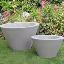 Petit X-pot blanc, Slide Design blanc Hauteur 33 cm