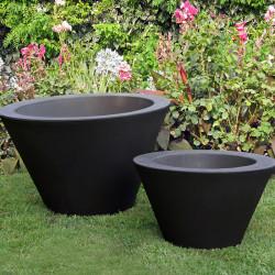 Petit X-pot noir, Slide Design noir Hauteur 33 cm