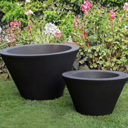 Petit X-pot noir, Slide Design noir Hauteur 50 cm
