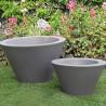 Petit X-pot gris, Slide Design gris Hauteur 50 cm
