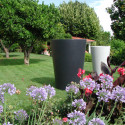 Grand X-pot gris, Slide Design gris Hauteur 107 cm
