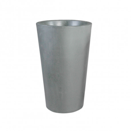Grand X-pot gris, Slide Design gris Hauteur 120 cm