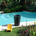 Grand X-pot noir, Slide Design noir Hauteur 83 cm