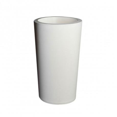 Grand X-pot blanc, Slide Design blanc Hauteur 107 cm
