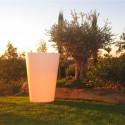 Grand X-pot blanc, Slide Design blanc Hauteur 120 cm