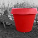 Pot XXL Gio Monster, Slide Design rouge H 184 cm