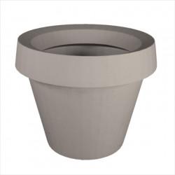 Pot géant Gio Tondo, Slide Design gris H 92 cm