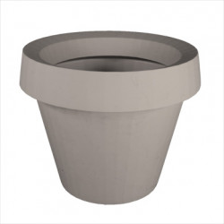 Pot Gio Tondo, Slide Design gris H 92 cm