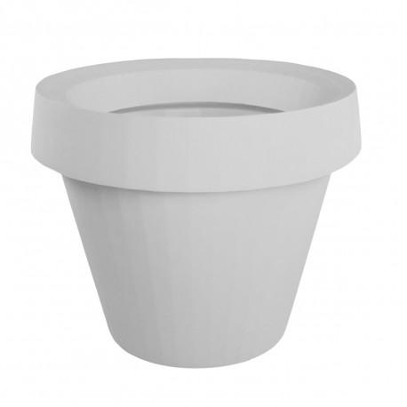Pot Gio Tondo, Slide Design blanc H 92 cm
