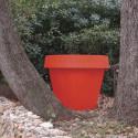 Pot Gio Tondo, Slide Design rouge H 92 cm