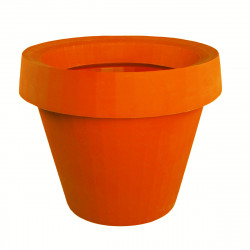 Pot géant Gio Tondo, Slide Design orange H 92 cm