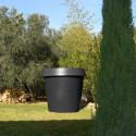 Grand Pot extérieur intérieur, Gio Big, Slide Design noir H 143 cm