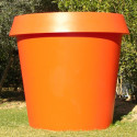 Pot Gio Big, Slide Design orange H 143 cm