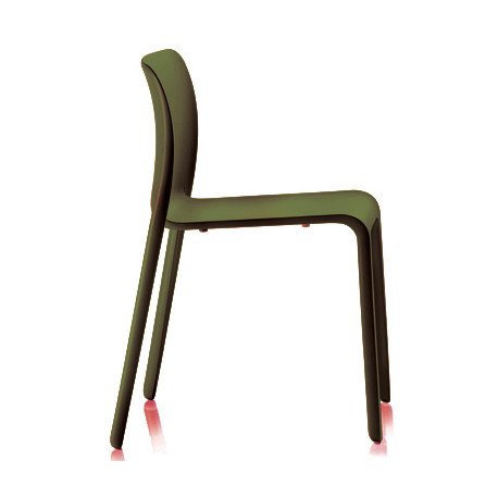 Lot de 2 chaises First Chair, Magis vert olive