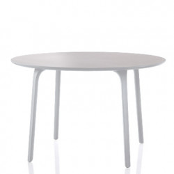 First, table ronde, Magis blanc diamètre 120 cm