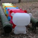 Lampe Art Toy Pure, Slide Design blanc