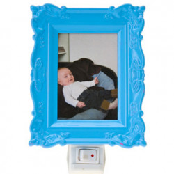 Lampe veilleuse enfant cadre photo j.i.p bleu
