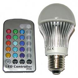 Ampoule LED variation de couleurs RGB télécommandée, Slide Design