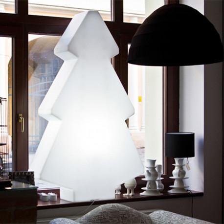 Sapin de Noël lumineux Lightree Indoor, Slide Design blanc Hauteur 100 cm