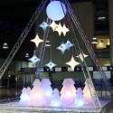 Sapin de Noël lumineux Lightree Indoor, Slide Design blanc Hauteur 150 cm