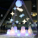 Sapin de Noël lumineux Lightree Indoor, Slide Design blanc Hauteur 200 cm