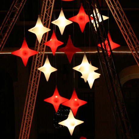Suspension Starlight Indoor, Slide Design rouge