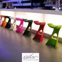Tabouret de bar design Koncord, Slide Design blanc