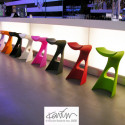 Tabouret de bar design Koncord, Slide Design rouge