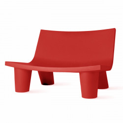 Fauteuil 2 places Low Lita Love, Slide Design rouge