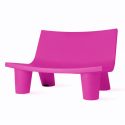 Fauteuil 2 places Low Lita Love, Slide Design fuchsia
