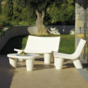 Fauteuil Low Lita, Slide Design blanc